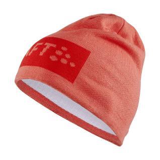 Cappello a maglia con logo quadrato Craft core