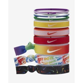 Set di 9 fasce per capelli Nike Mixe