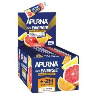 Confezione da 25 gel Apurna Energy agrumi a lunga distanza - 35g