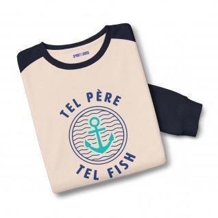 Felpa bicolore Tel Father Tel Fish